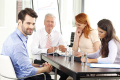Business people at meeting stock photo