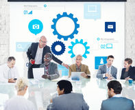 Business People in a Meeting About Teamwork Royalty Free Stock Photo