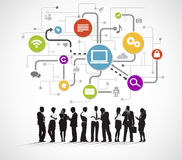 Business People Meeting with Technology Symbol Royalty Free Stock Photo