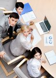 Business people at the meeting. Top view Royalty Free Stock Images