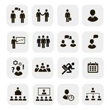 Business people meetings and conferences iconsŒŒ Royalty Free Stock Photography