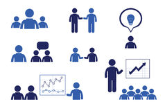 Business people meetings and conferences. Training presentations Royalty Free Stock Images