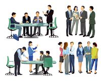 Business people in meetings Royalty Free Stock Photos