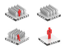 Business people metaphors. 3d illustration Stock Image