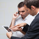 Business people mobile communication Stock Photo