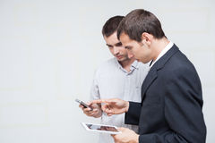 Business people mobile communication Royalty Free Stock Image