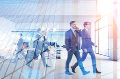 Business people in modern office, skyscraper stock photos