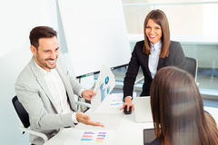 Business people in modern office Royalty Free Stock Photography