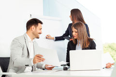 Business people in modern office Royalty Free Stock Photos