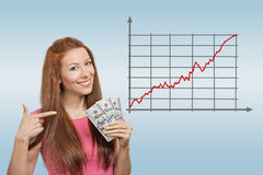 Business, people and money concept Stock Photo