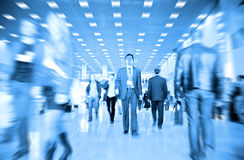 Business people motion blur Stock Photos