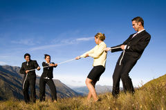 Business People Mountains Competition Concept Stock Image