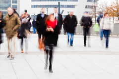 Business people on the move in the city royalty free stock photography