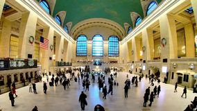 Lot of people are walking in Grand Central Terminal New York stock video footage