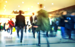 Business people moving blur. People walking in rush hour. Business and modern life concept Stock Image
