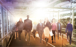 Business people moving blur. People walking in rush hour. Business and modern life concept Stock Photo