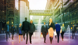 Business people moving blur. People walking in rush hour. Business and modern life concept. Business people moving blur. People walking in rush hour. Business Stock Image