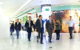Business people moving blur. People walking in rush hour. Business and modern life concept Royalty Free Stock Image