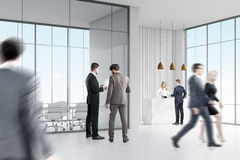 Business people near reception Royalty Free Stock Photos