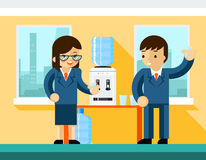 Business people near water cooler Stock Photography