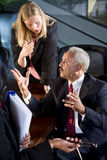 Business people negotiating royalty free stock photography