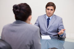 Business people negotiating Stock Images