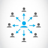 Business people network Stock Photography