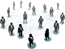 Business people network connection nodes Royalty Free Stock Image