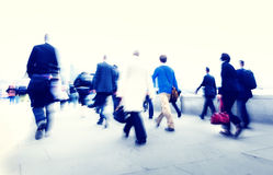 Business People New York Commuter Concepts Stock Photography