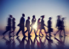Business People New York Commuting Concept Royalty Free Stock Photo