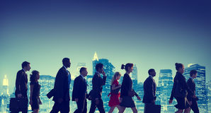 Business People New York Commuting Concepts Royalty Free Stock Photos