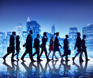 Business People New York Commuting Concepts Stock Photos