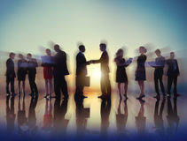 Business People New York Outdoor Meeting Concept Royalty Free Stock Photo