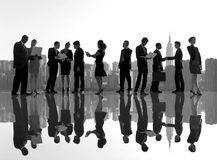 Business People New York Outdoor Meeting Concept Royalty Free Stock Photos
