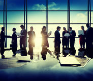 Business People New York Outdoor Meeting Concept Stock Images