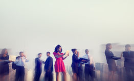 Business People New York Outdoor Meeting Concepts royalty free stock photography