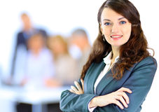 Business people, nice woman Royalty Free Stock Images