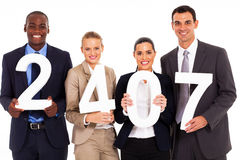 Business people numbers Royalty Free Stock Photography