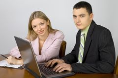Business people at the office Royalty Free Stock Photography