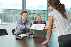 Business people at office Royalty Free Stock Image