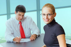 Business people at office royalty free stock images