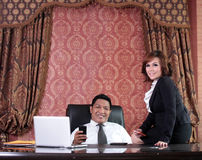 Business people in the office Royalty Free Stock Photos