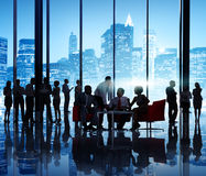 Business People In A Office Building Royalty Free Stock Image