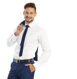 Business, people and office concept - businessman Stock Photo