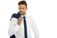 Business, people and office concept - businessman Stock Photos