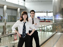 Business people in office environment stock image