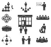 Business people. Office icons, conference Stock Images