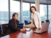 Business people in an office l Royalty Free Stock Images