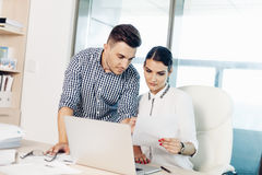 Business people, office life stock photo