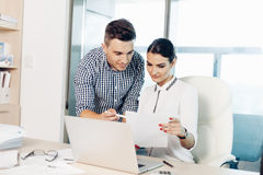 Business people, office life royalty free stock photos